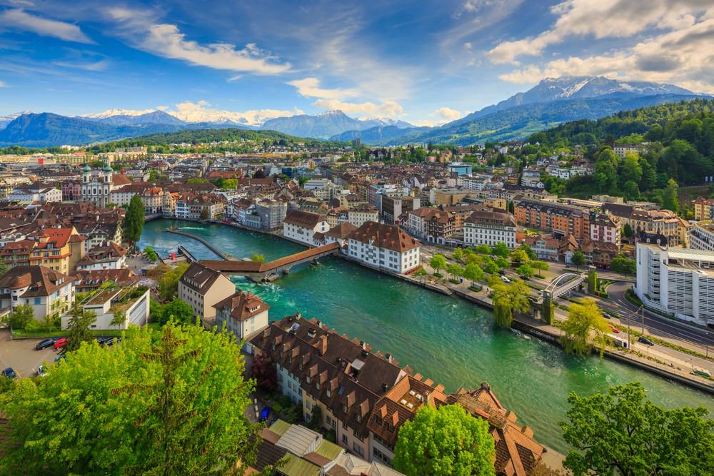 View Over Lucerne Switzerland