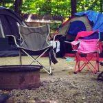 clean camping chair