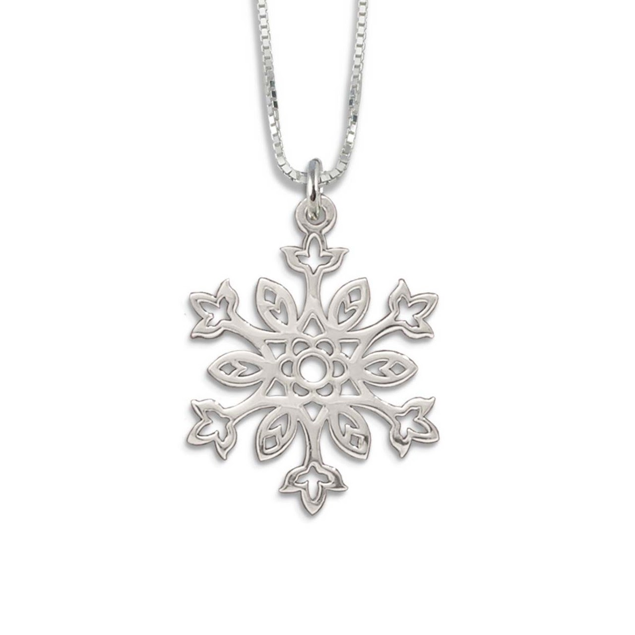 Sterling Silver Snowflake Pendant: Make Your Winter More Stylish